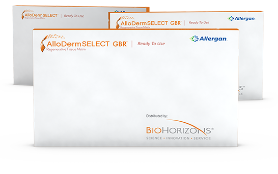 AlloDerm GBR packages