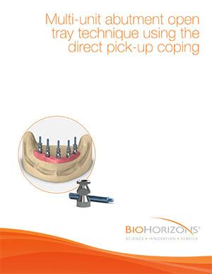 Mehrgliedriges Abutmentsystem, offene Löffeltechnik mit direktem Implantat-Abdruckpfosten