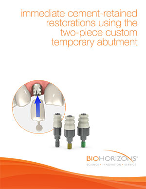 Protesi fisse cementate immediate con abutment temporaneo a due pezzi su misura