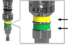 Implant Driver Color-Coding