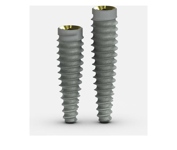 Tapered PTG dental implants