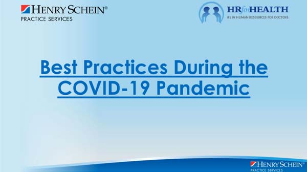 HR for Health Best Practices During COVID-19